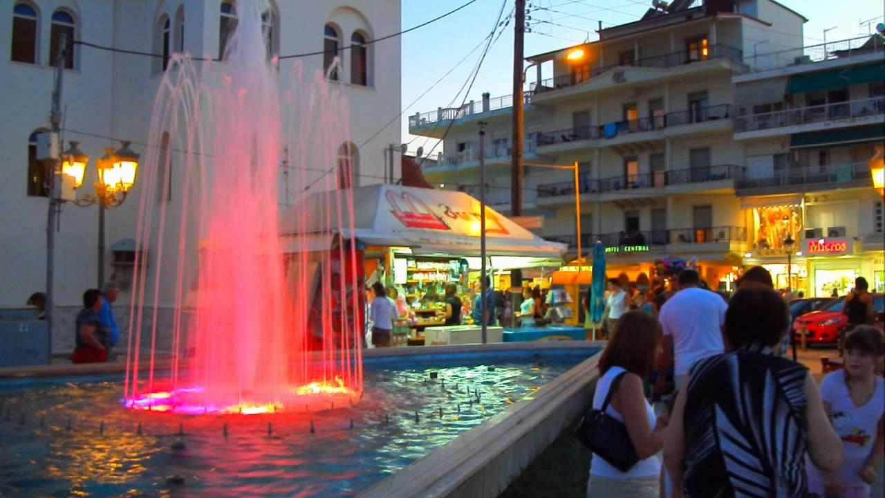 Paralia Greece Night Paralia Katerini Greece