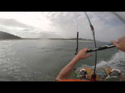 Kite boarding Durban - Front and Rear GoPro Engaged.