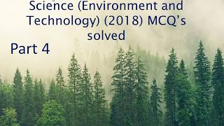 BHU M.Sc. Environmental Science (Environment and Technology) (2018) MCQ's solved Part 4