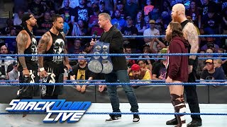 The Usos crash Shane McMahon's SmackDown Tag Team Title presentation: SmackDown LIVE, May 7, 2019