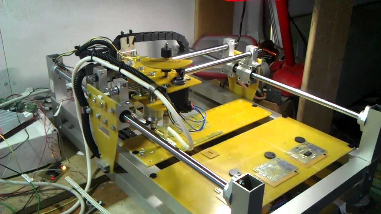 Станок для фрезеровки печатных плат своими руками 66