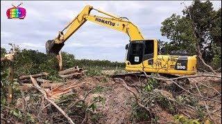 Máy xúc chặt cây dọn đồi | LK Nhạc thiếu nhi sôi động remix