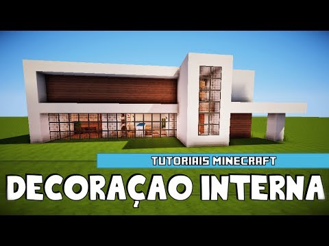 Minecraft decora o interna da mans o moderna 2 youtube for Casa moderna minecraft 0 12 1