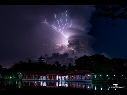 Electrical Storm Cloud Captured At Singapore Chinese Garden