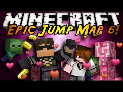 Minecraft: Epic Jump Map Valentines Part 3!