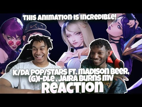 Download GI-DLE!!! | K/DA - POP/STARS ft Madison Beer, Jaira Burns | MV - League of Legends - REACTION Mp4 baru