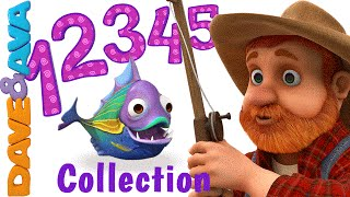 12345 Once I Caught a Fish Alive | Number Song | Nursery Rhymes Collection from Dave and Ava