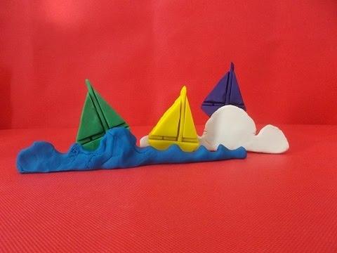 how to make a playdough boat