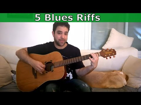 5 Awesome Fingerstyle Blues Riffs You Can (And Should) Steal - Guitar Tutorial Lesson W/ TAB