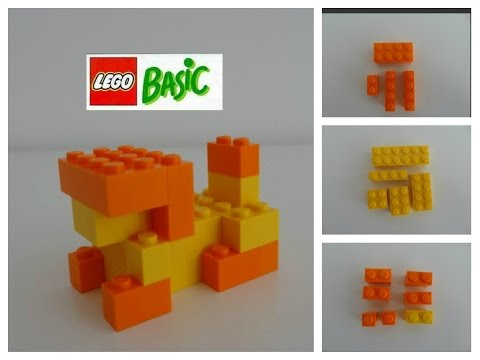 สอนต่อเลโก้สิงโต สอนต่อเลโก้เบสิค สอนต่อเลโก้สัตว์ (วิดีโอแนะนำของเล่น)