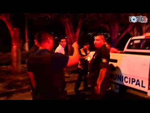 Se accidentan policías en Tuxtla