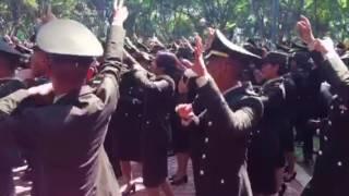 Yel-yel paja TNI AD usai Upacara Pelantikan Prasetya Perwira TNI -POLRI 2017