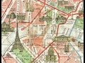 Paris France Antique Map (1920)