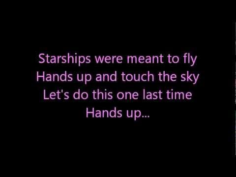 Nicki Minaj- Starships (lyrics On Screen) video