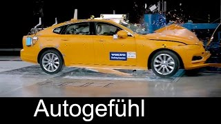 All-new Volvo S90 crash test IIHS Small Overlap Test neuer S90 - Autogefühl