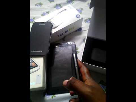 Unboxing of tecno P5
