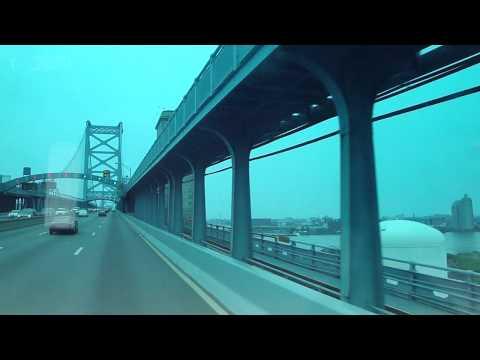 Ben Franklin Bridge from Camden NJ to Philadelphia PA