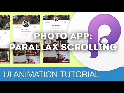 Photo App: Parallax Scrolling • UI/UX Animations with Principle & Sketch (Tutorial)