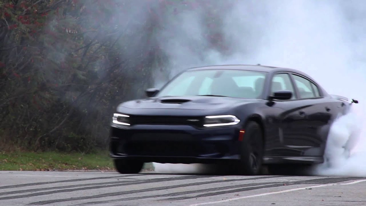 dodge charger hellcat burnout youtube