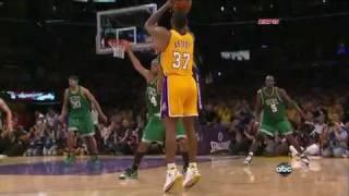 Ron Artest Clutch 3-Pointer - Game 7 (Lakers Vs. Celtics) NBA Finals HD