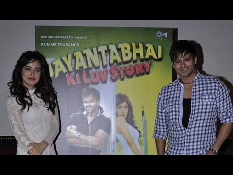 Vivek Oberoi And Neha Sharma At 'jayanta Bhai Ki Luv Story' First Look Launch video
