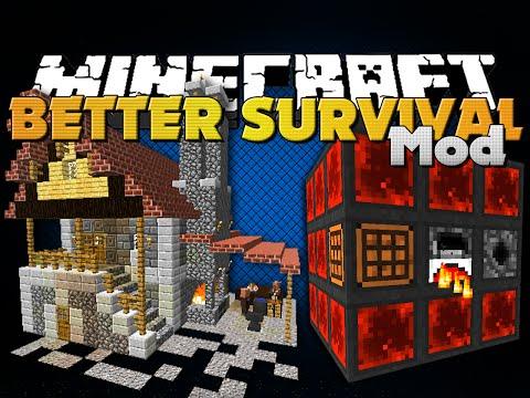 Minecraft BETTER SURVIVAL MOD FOUR GREAT MODS