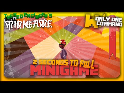 Minecraft - 2 seconds to fall | minigame with only 2 command blocks