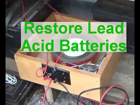 How to desulfate a lead acid battery.