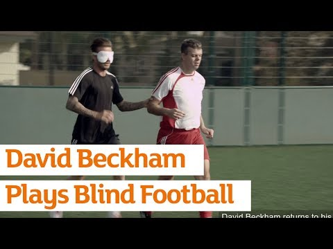 David Beckham Plays Blind Football -- Paralympics -- Sainsbury s -- 1.30min