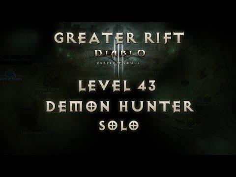 Diablo 3 Reaper of Souls Cold Demon Hunter Greater Rift Level 43 (Solo)