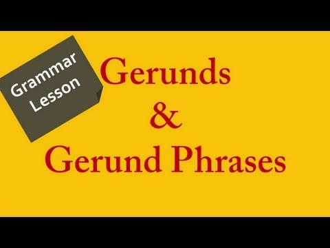 why we use gerund in english One of the difficulties of the english language is to know whether to use a  i  denied stealing, often we use the gerund for an action that happens before or at  the.