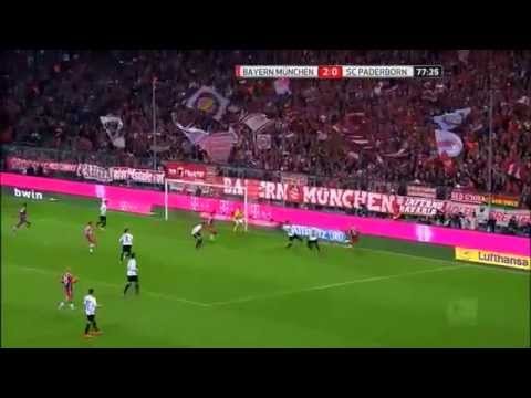 Bayern Munich vs Paderborn 07 All Goals 4-0 23 09 2014