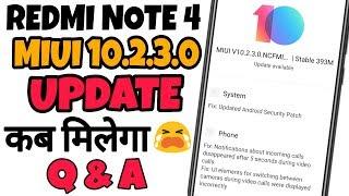 REDMI NOTE 4    MIUI 10.2.3.0 UPDATE कब मिलेगा ?    SOLUTION    Ft. TNVJ
