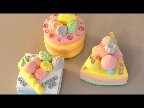 Mouse Clay Glitter Cakes ( Japanese Play Dough)