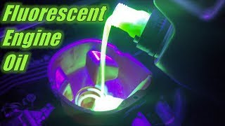 Finding Oil Leaks with Fluorescent Engine Oil