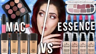 ❗️ESSENCE vs. MAC❗️Ganzes Makeup Vergleich drogerie High end Dupes I Luisacrashion