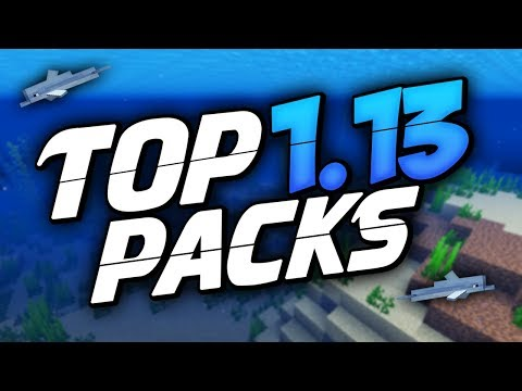 BEST TEXTURE PACKS FOR MINECRAFT 1.13 (Update Aquatic)