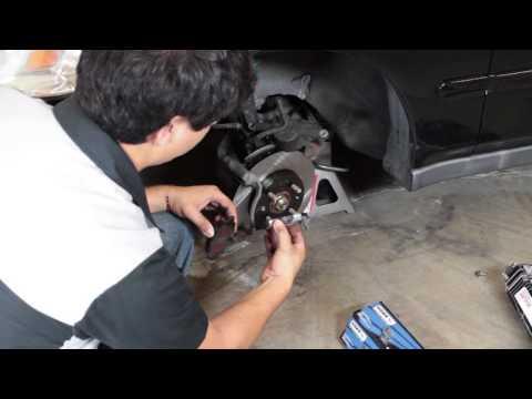 Power Slot Rotors and Hawk Brake Pads Install - Honda Civic 1996 1997 1998 1999 2000