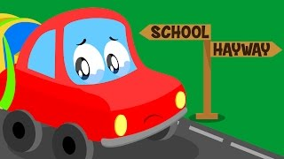 Little Red Car | Lost Car Original Song For kids | Cartoon about cars for kids