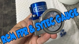 RCM Fuel Pressure Regulator and Sytec Gauge