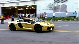BEST of Supercar SOUNDS Loud acceleration  REVS  Lamborghini Ferrari Bugatti EXOTIC STEREO