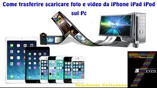 Come trasferire scaricare foto e video da iPhone iPad iPod sul Pc