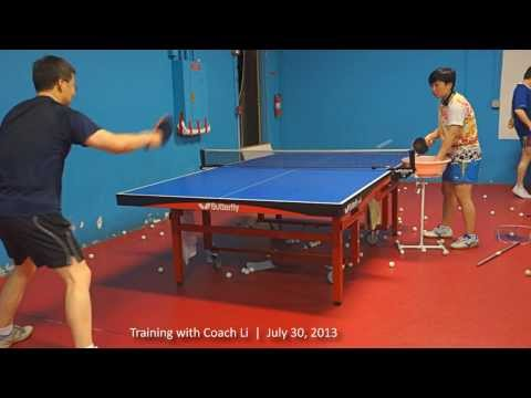 Training with Coach Li: Forehand flip + backhand loop