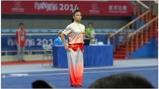NANJING 2014 Wushu Tournament - Women Changquan MAS Loh Ying Ting 罗莹婷 9.56
