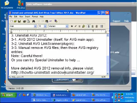 How to Uninstall AVG Anti-Virus Free Edition 2012
