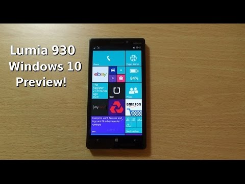 Windows 10 Preview Nokia Lumia 930 - Review