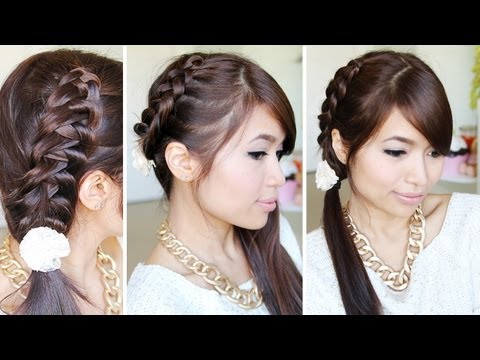 Crochet Stitch Ponytail Hairstyle for Medium Long Hair Tutorial - Bebexo