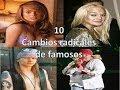 10 cambios radicales de famosos -