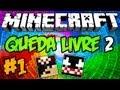 Minecraft Aventura: Queda Livre 2 - Episódio 1 O Esqueleto sem Arco! =P