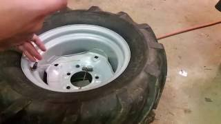 Liquid Ballast filling tractor tires cheep & easy